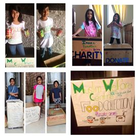 Burlington youngsters holding food drive